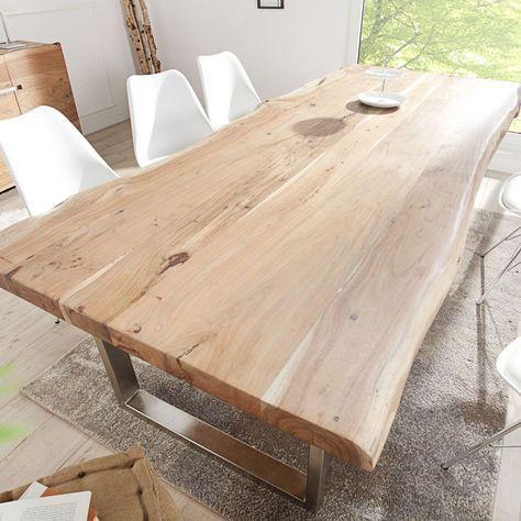 Details zu Tisch Massiver Baumstamm MAMMUT Akazie Massivholz