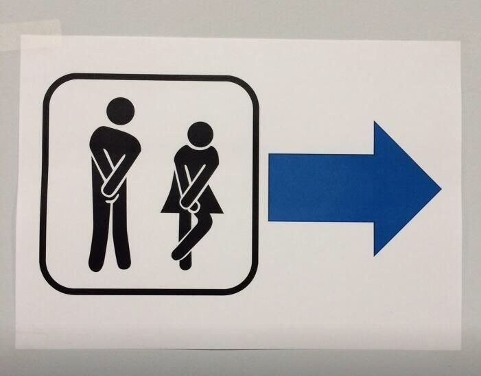 Actual Restroom Sign At The Olympics In Sochi