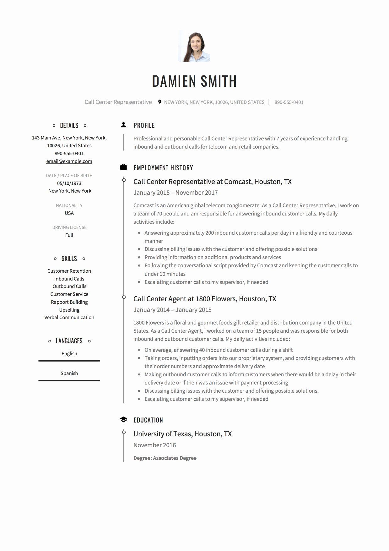 25 Call Center Representative Resume in 2020 (With images