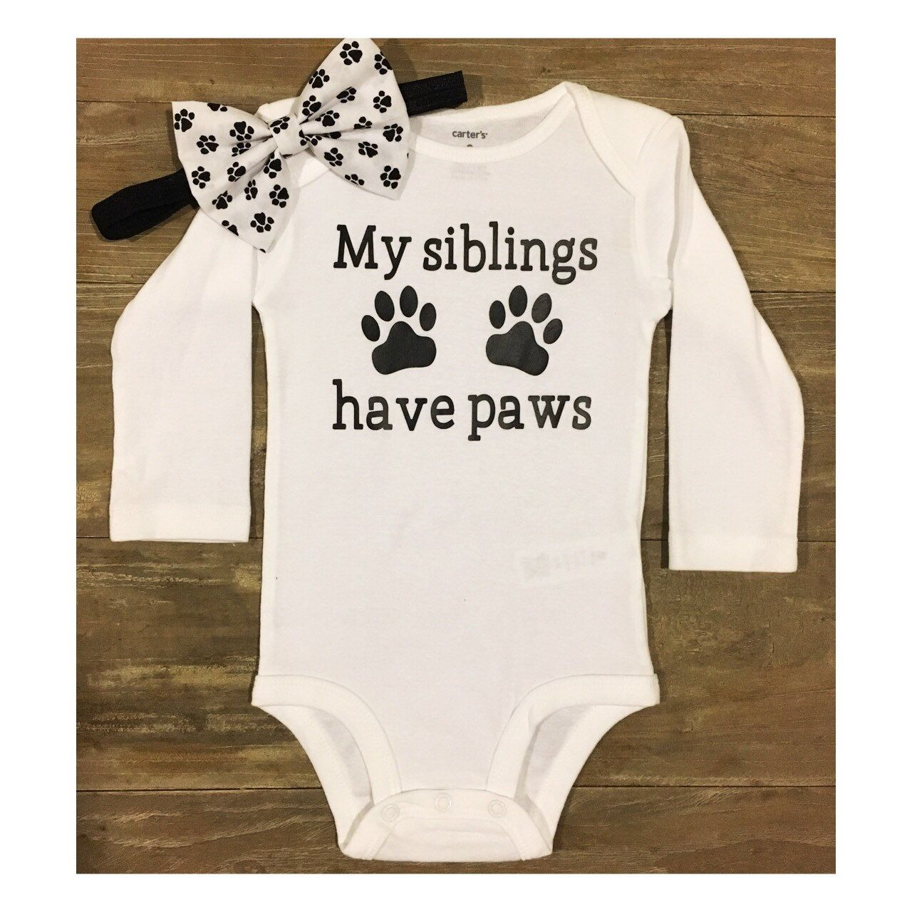 My siblings have paws White Top, Fur Babies, Fur Brother