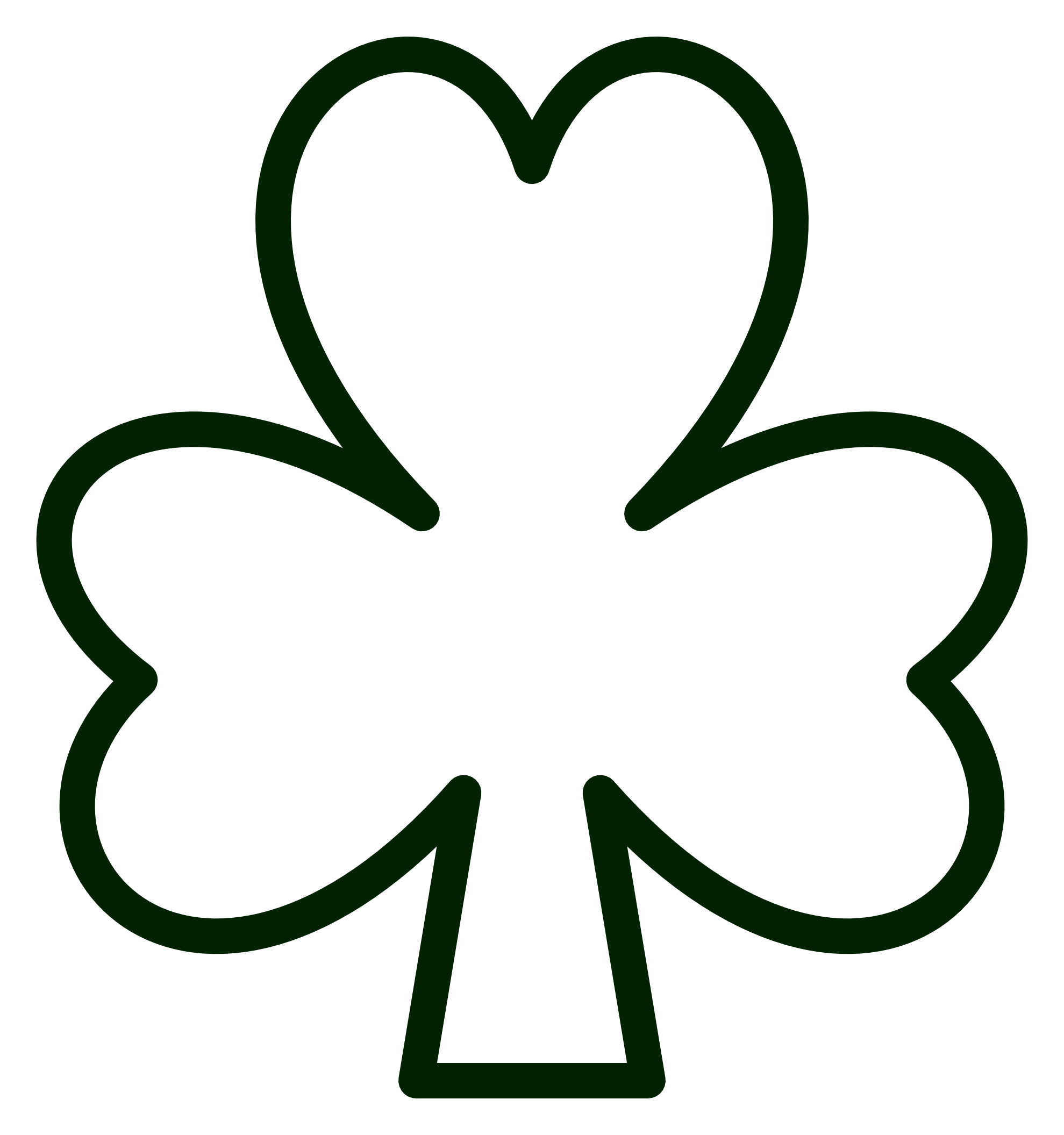 graphic about Printable Shamrock Templates named shamrock define clipart Quilt blocks Shamrock template