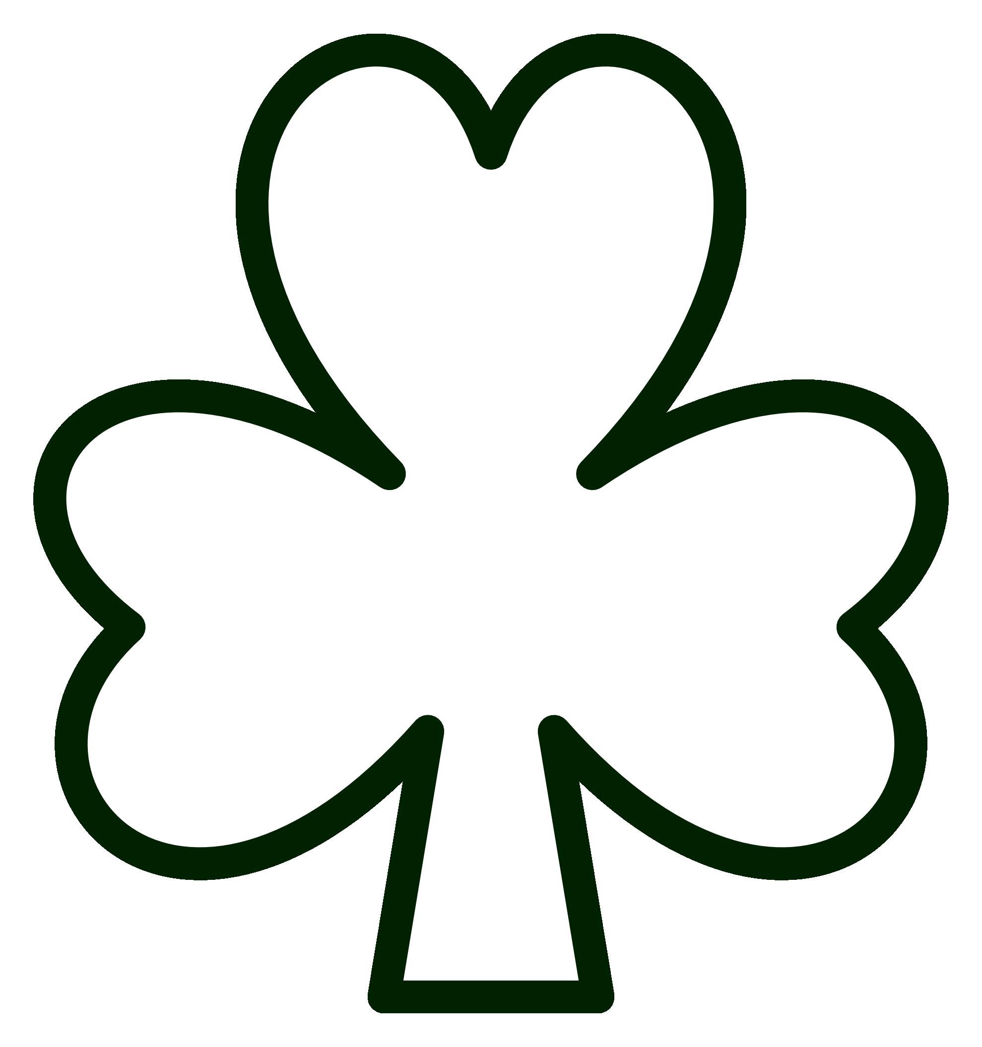 St Patrick S Day Shamrock Clip Art Shamrock template