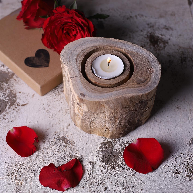 صندوق من خشب التيك بغطاء محفور لقاعدة الشموع بارتفاع 10 سم و قاعدة بقطر 12 سم بسعر 55 ريال Tea Lights Candle Holders Candles