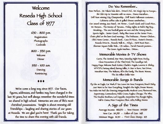 30th reunion program class reunion pinterest school for Class reunion program template