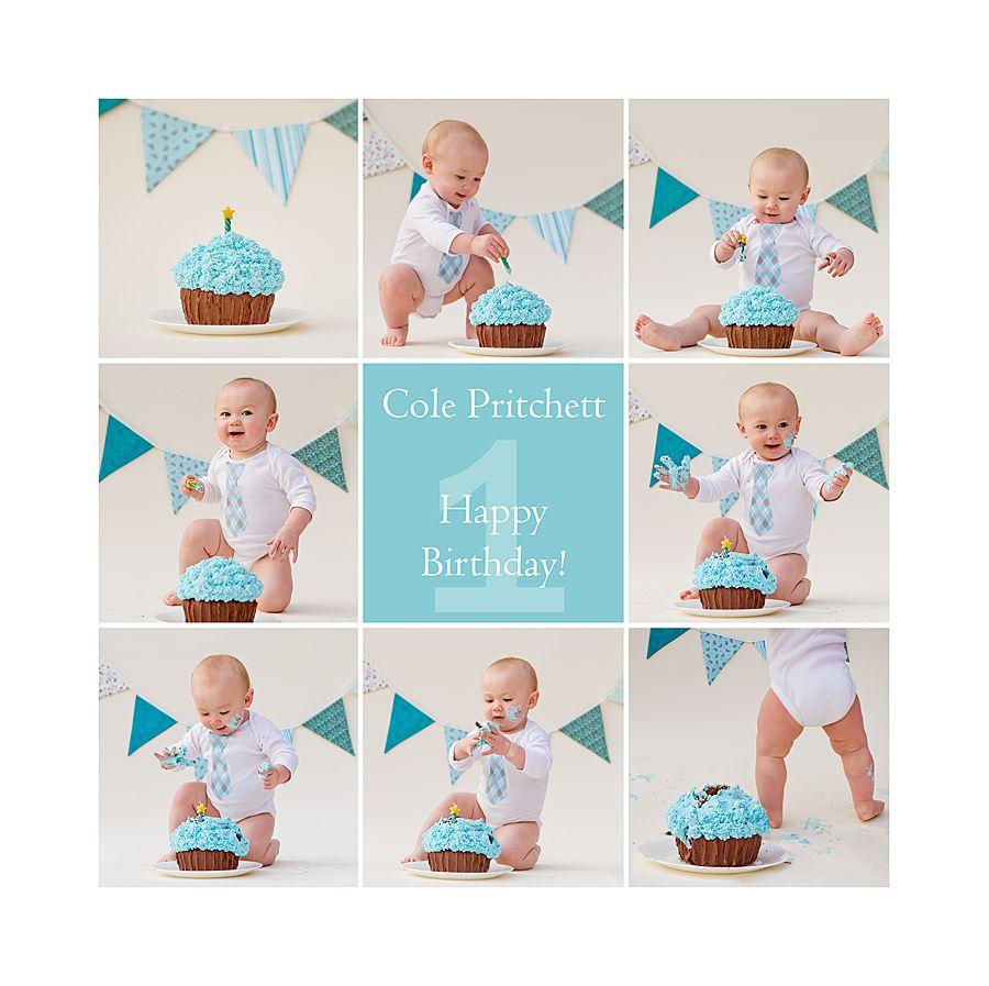 Boy St Birthday Smash Cake First Birthday Cake Smash Photoshoot - Cake smash first birthday