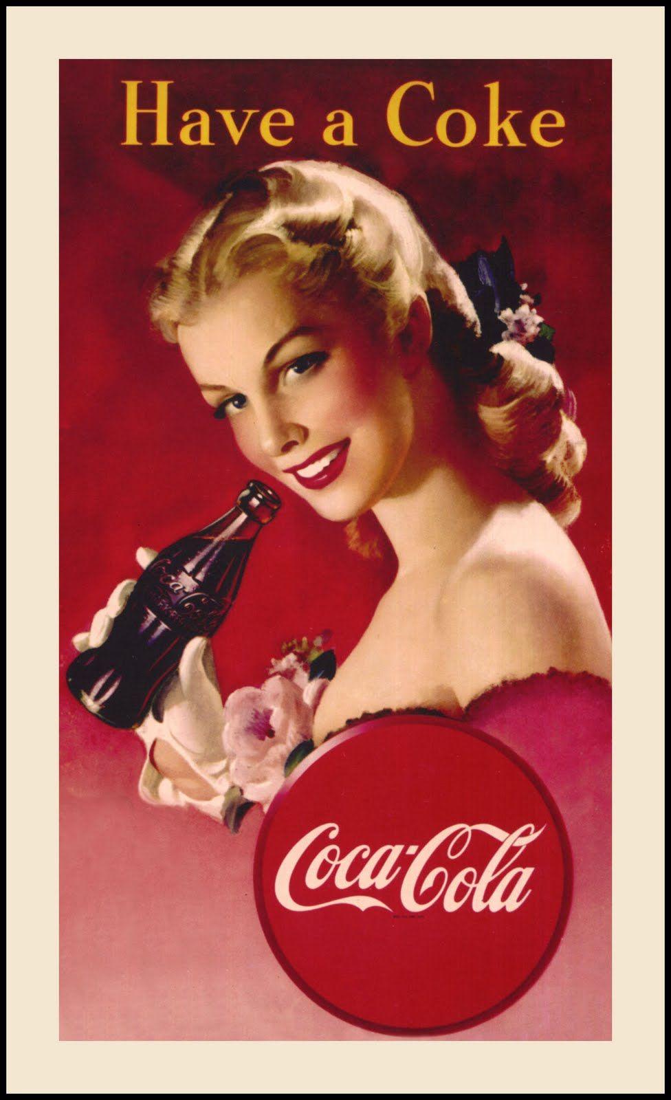 Poster Antiguos De Coca Cola