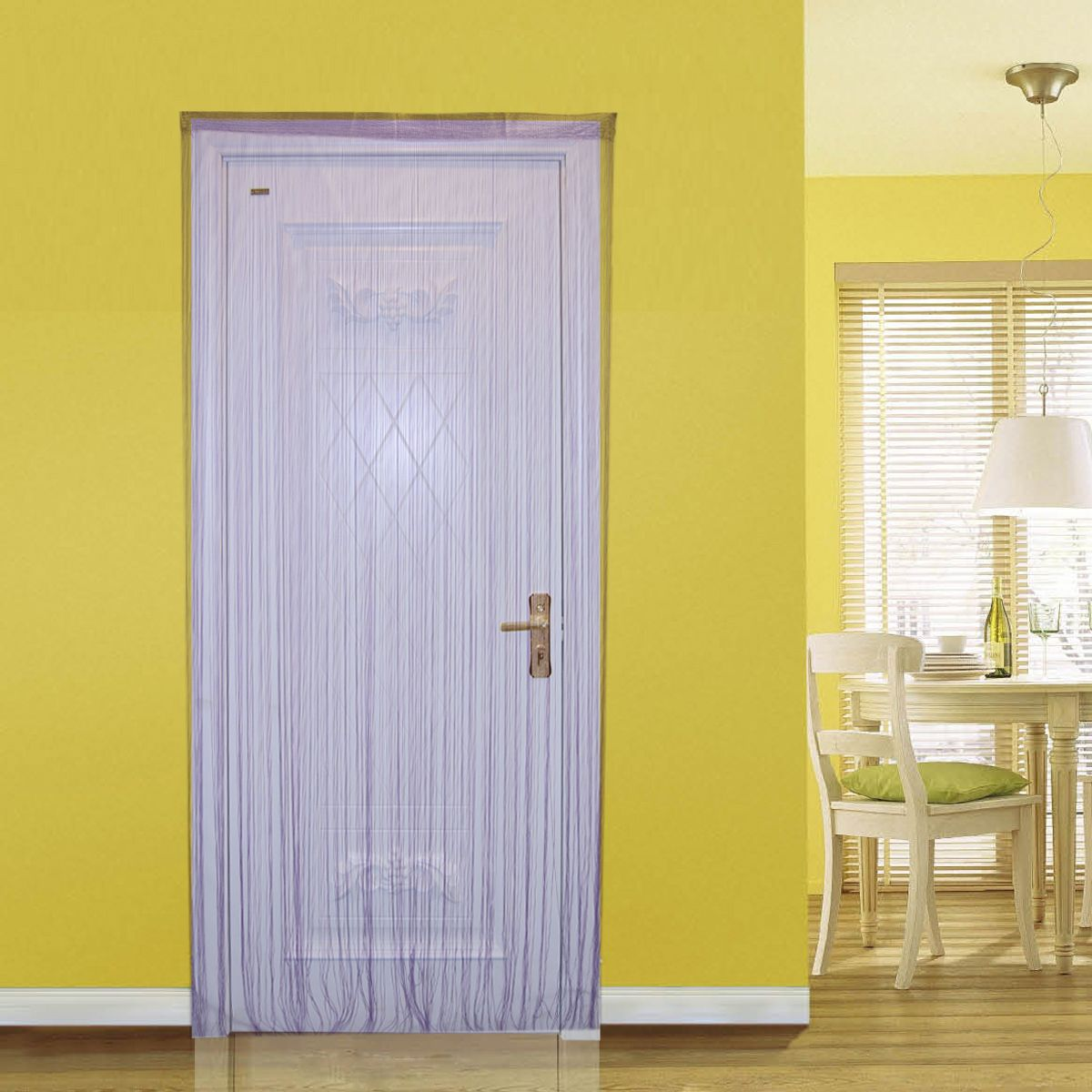 Decorative color string curtain m door window tassel curtain