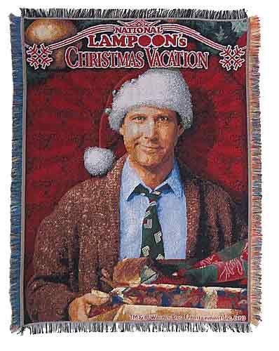 Clark Griswold Pile Of Gifts Tapestry Throw (With Images