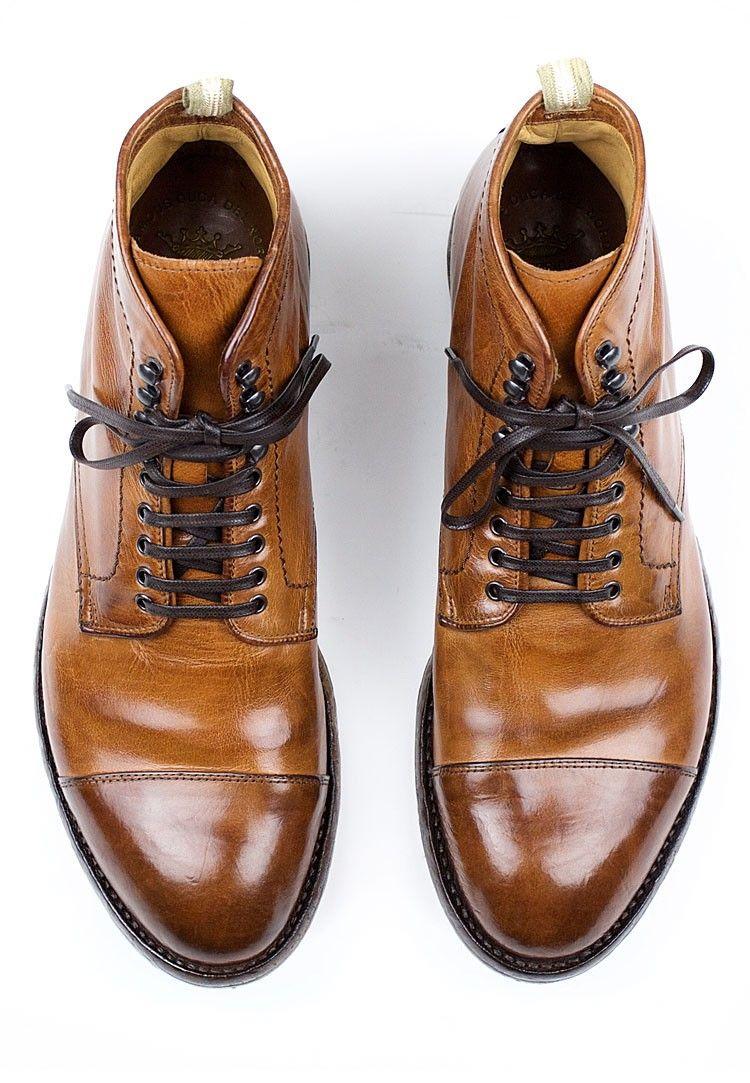 Officine Creative Anatomia 16 Cap Toe Boot for Men - Cognac