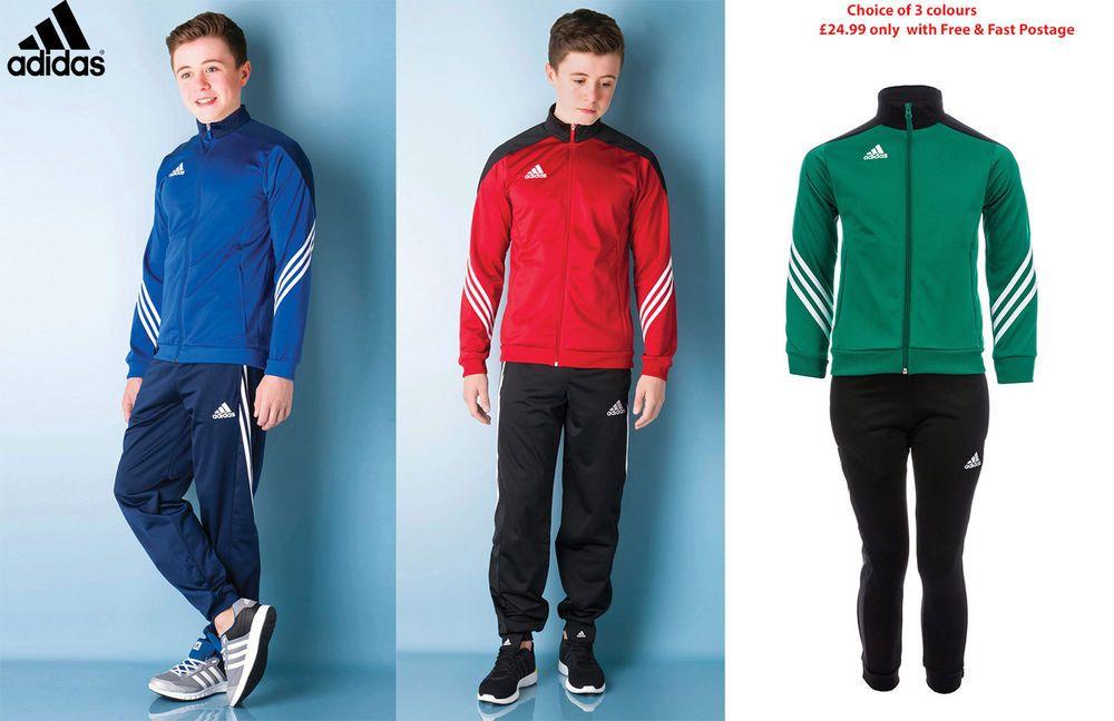 Kids Red & Black Adidas Tracksuit