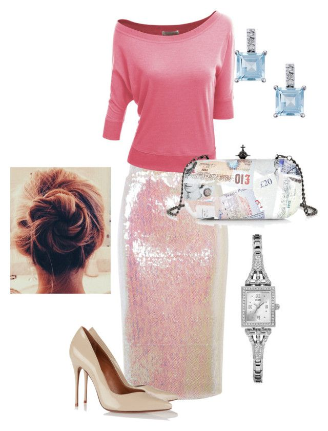 """""""Night out"""" by april-19 on Polyvore featuring Essentiel, Doublju, Schutz, Vivienne Westwood and GUESS"""