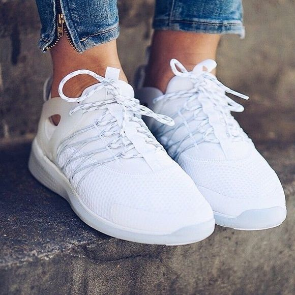 womens nike white free virtuous trainers on biggest