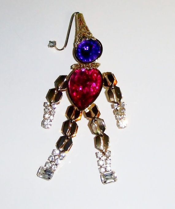 """USE COUPON CODE """"MOTHERSDAY"""" FOR 10% OFF PURCHASES OF $20 OR MORE!! Vintage Goldtone & Purple Pink and Clear by acolourfulpast on Etsy, $14.99"""