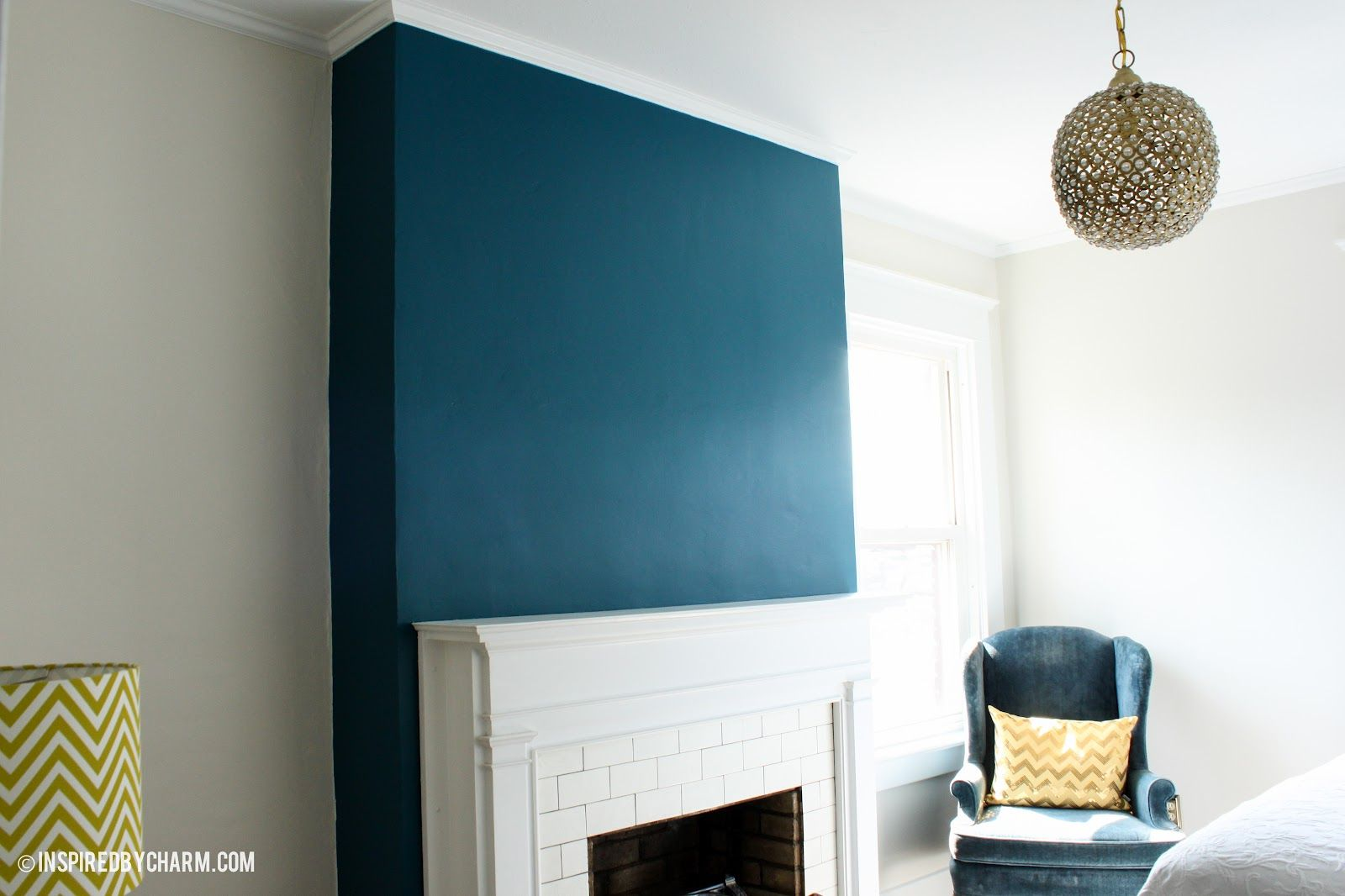 Painted paint fireplace fireplace wall and wall colors for Benjamin moore slate grey