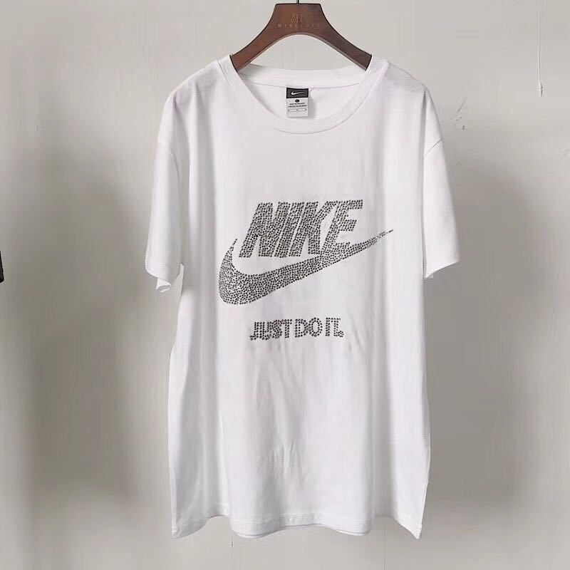 6817f19ff66e Spring Summer 2018 Real Nike Clothing T-Shirts Short Sleeve Diamond Shirts  White
