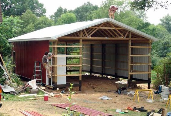 Wood pole barn plans free barn shed or storage for Free pole shed plans