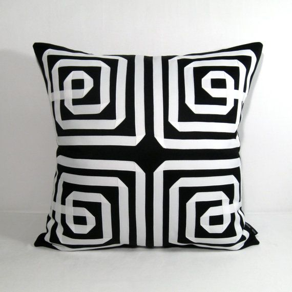 Black White Pillow Cover Decorative Outdoor Cushion By Mazizmuse, $105.00