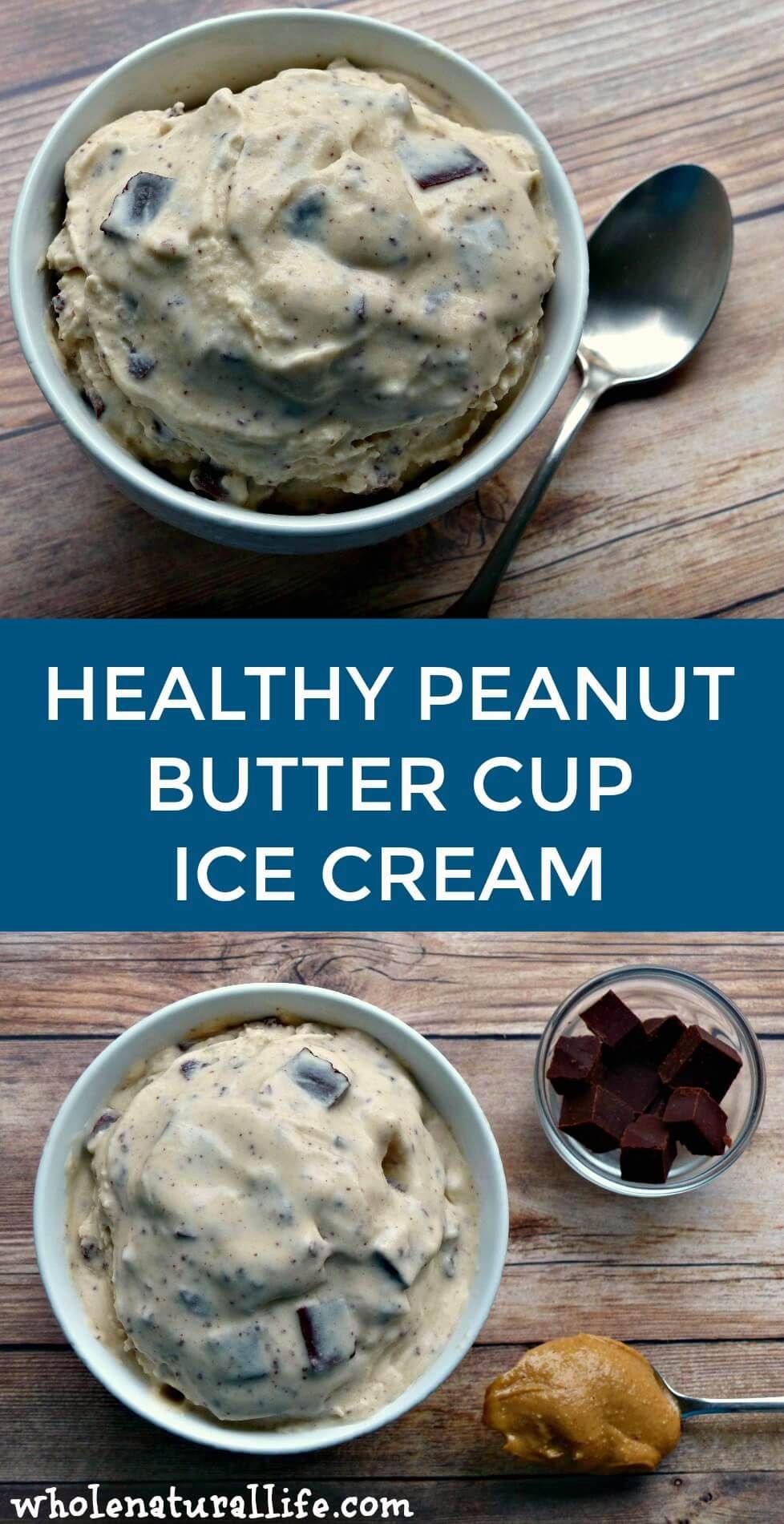 Peanut Butter Cup Ice Cream #healthyicecream