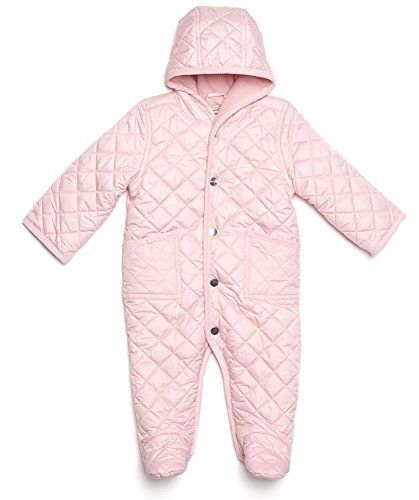 Leveret Quilted Baby Snowsuit 12 Months Lt Pink You Can Find More Details By Visiting The Image Link Baby Snowsuit Baby Boy Jackets Snow Suit
