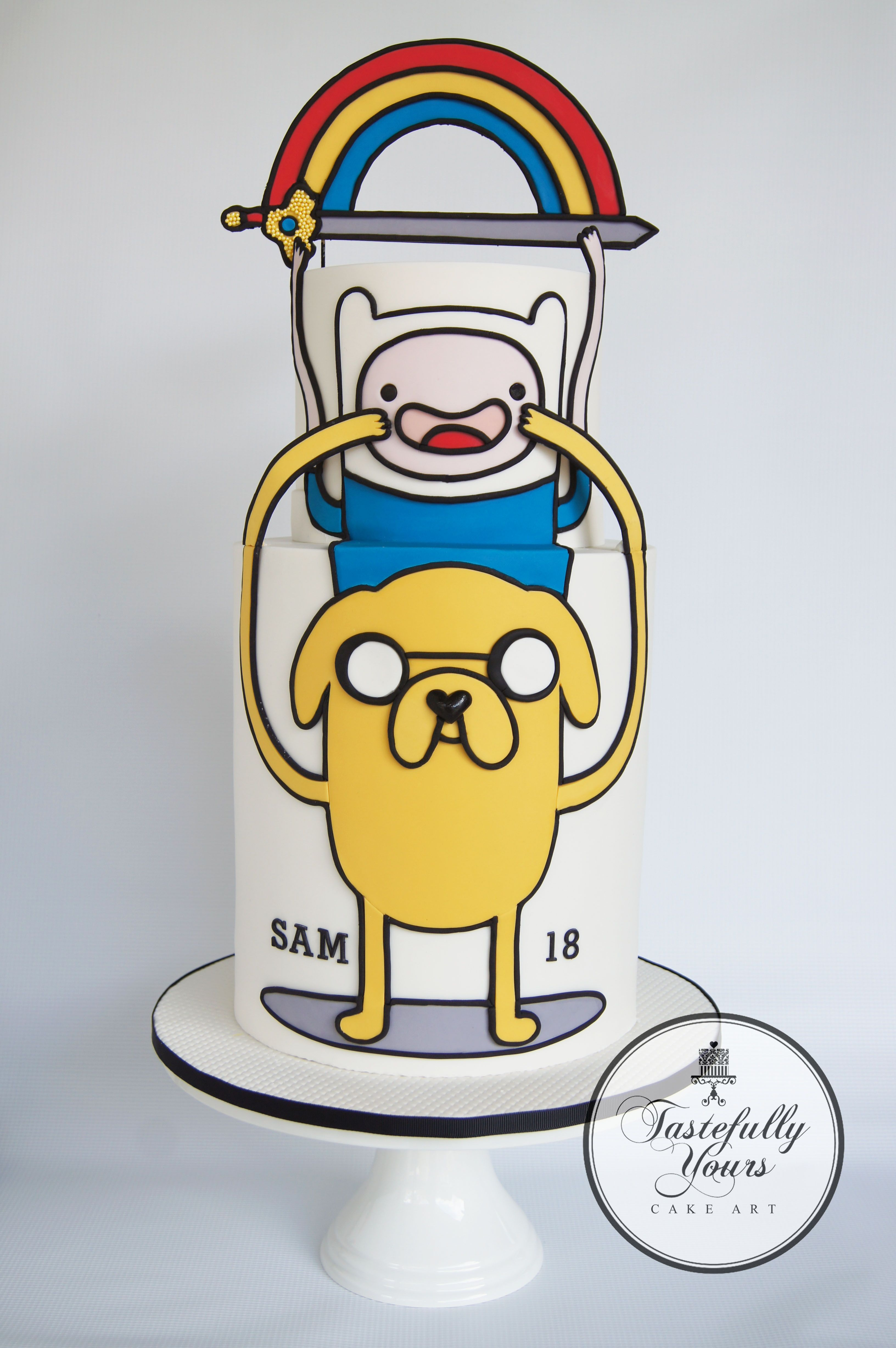 Adventure Time - 18th birthday cake - by Tastefully Yours Cake Art ...