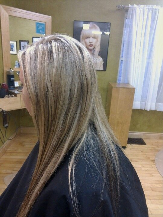Light Blonde Highlights With Warm Blonde And Dark Brown Highlights