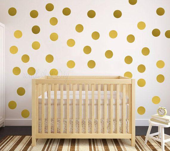 Wandtattoo Gold Polka Dot Polka Dots Wand Aufkleber von WallArtDIY