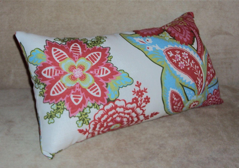 16x9 Annie Selke Shalini Ivory Raspberry Floral Lumbar Pillow Etsy Lumbar Pillow Cover Decorative Lumbar Pillows Pillows