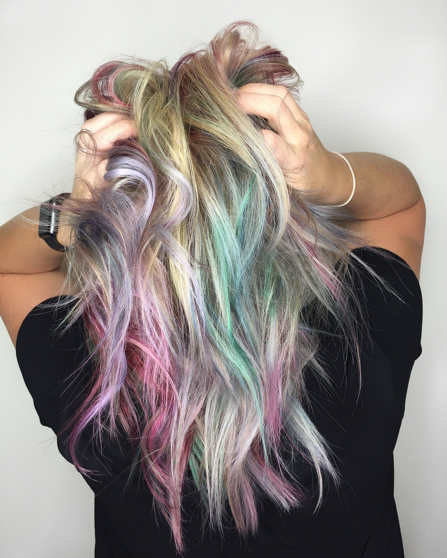 Jewel tone hair pravana multicolored hair rainbow hair