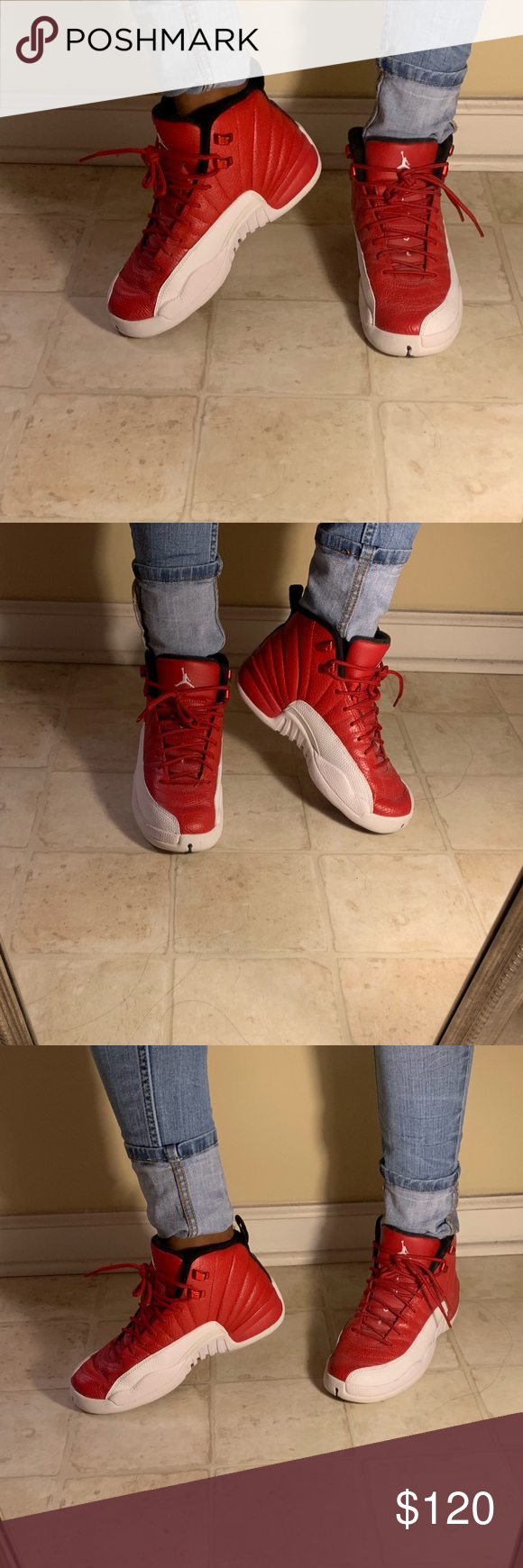 new product 2da7f 8d0a8 AIR JORDAN 12 RETRO Red and White These Jordan's are in ...