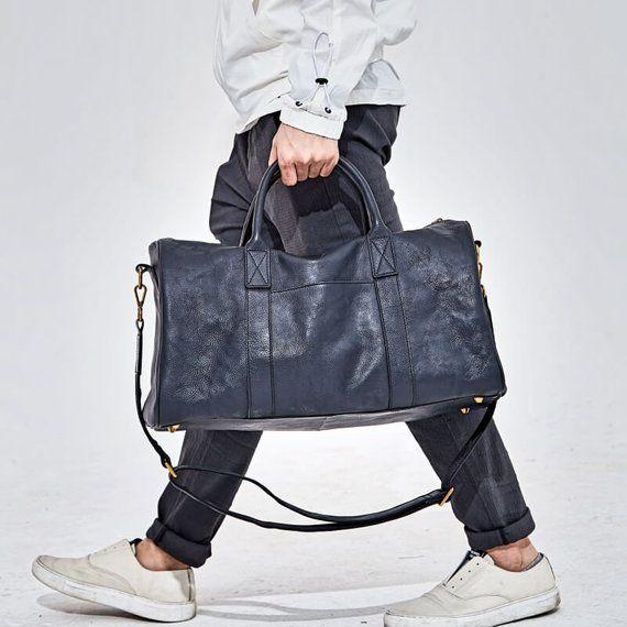 New Unisex Leather Weekend Luggage Duffel Bag Gym Sports Travelling Bag....