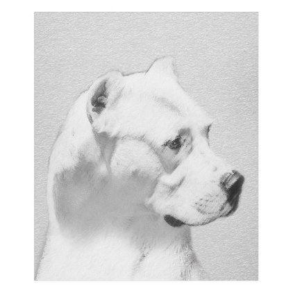 Dogo Argentino Fleece Blanket Mastiff Puppy Dog Dogs Pet