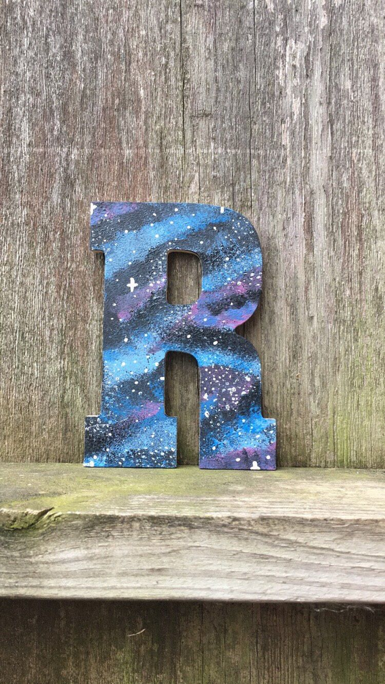 galaxy letters galaxy decor galaxy wall art galaxy paint wood