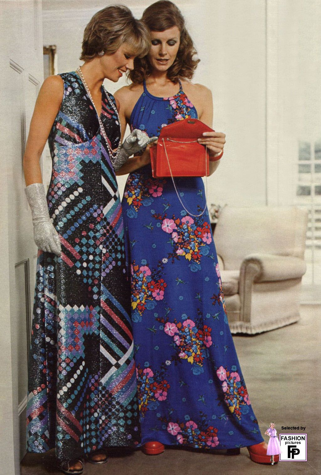 1970s fashion...I always loved my maxi or midis...but in better looking patterns.  I'm so glad my Mom was a seamstress!