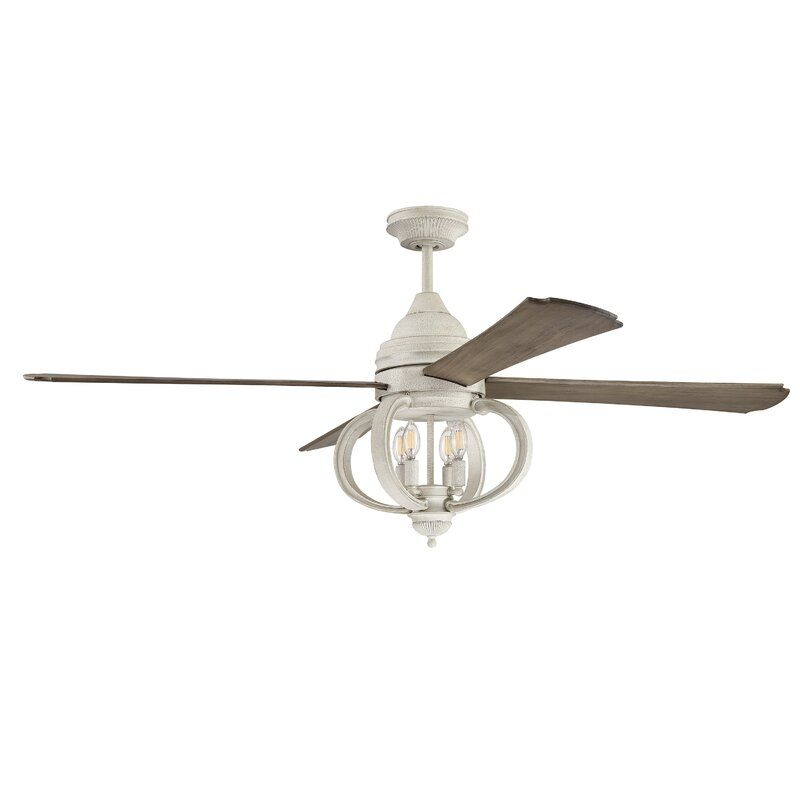 60 Kali 4 Blade Ceiling Fan With Remote Light Kit Included In