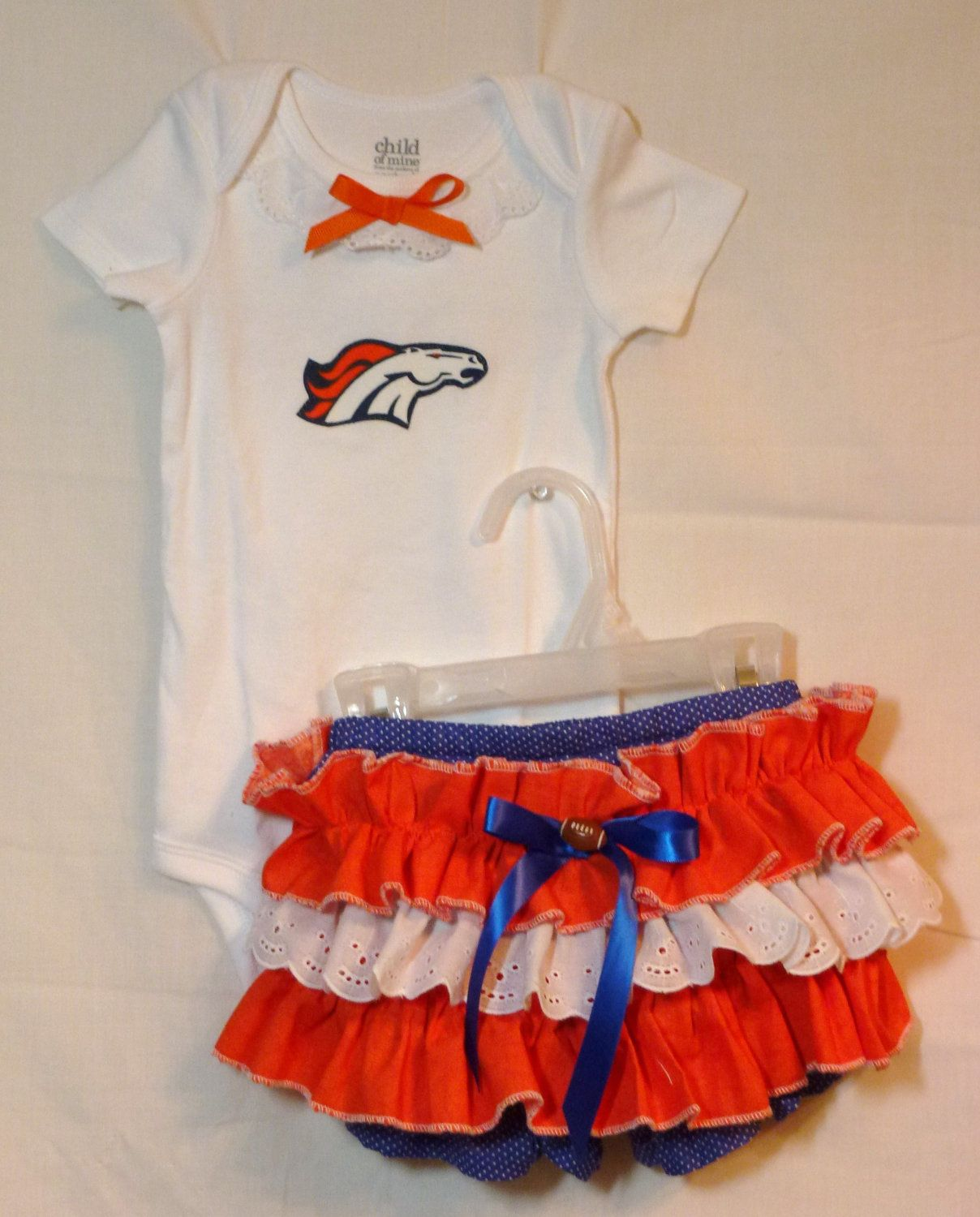70631d21 NFL Denver Broncos boutique onsie bloomer outfit Infants to size 2 diaper  covers Any Team