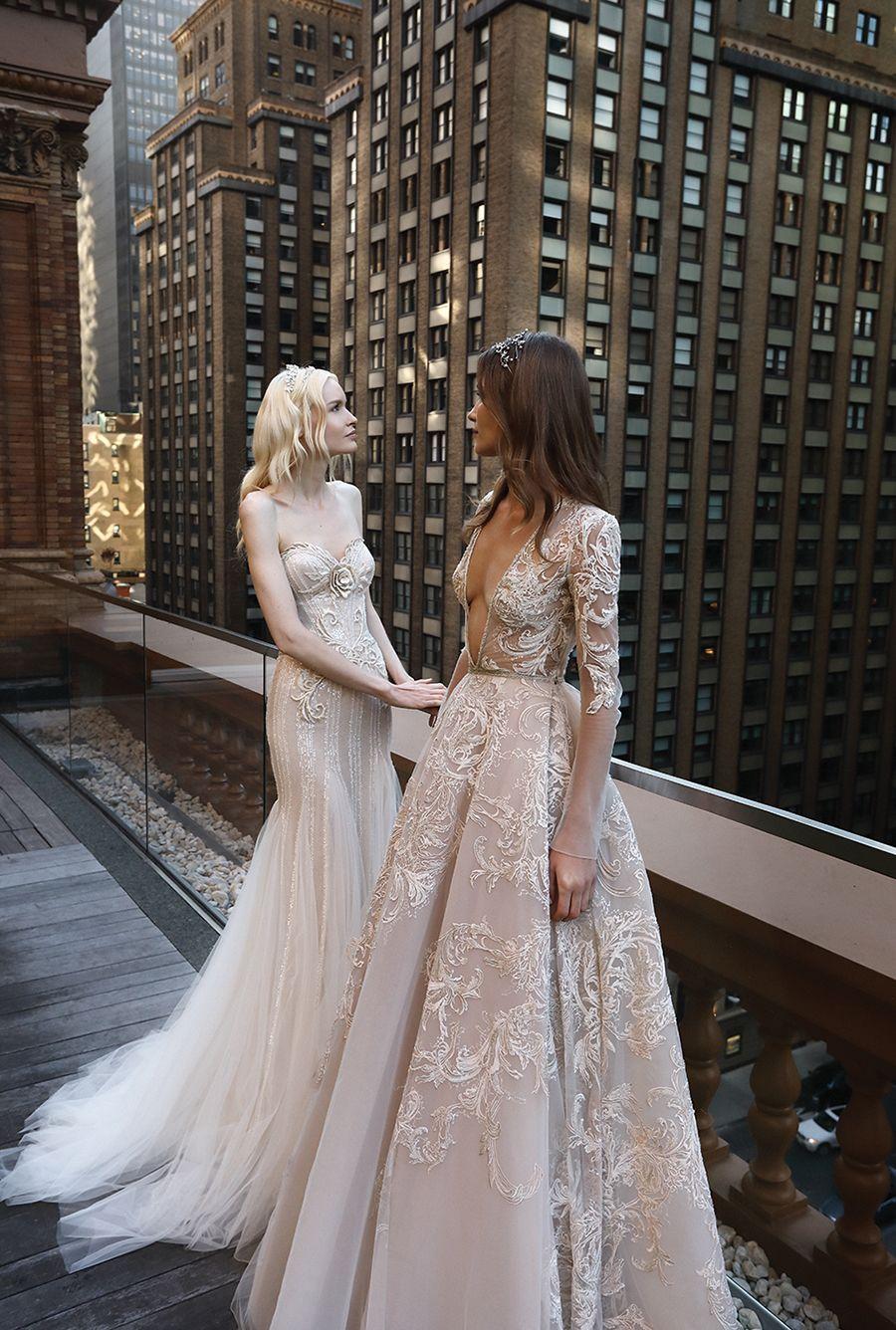 Inbal drorus fall wedding dress collection pink wedding gowns