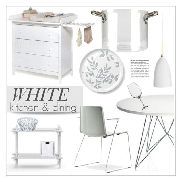 """White Kitchen & Dining"" by lovethesign-eu ❤ liked on Polyvore featuring interior, interiors, interior design, Zuhause, home decor, interior decorating, Magis, knIndustrie, Pordamsa und Koziol"