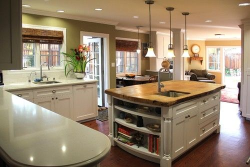 Spaces Kitchen Island Butcher Design, Pictures, Remodel, Decor and ...