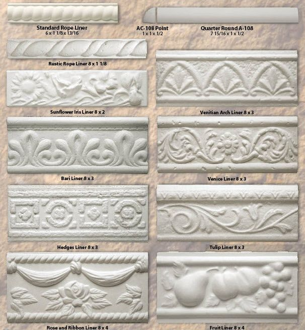 Tile Decorative Trim Bisque Tilesseattle Pottery Supplya1Specialty Trim Tiles