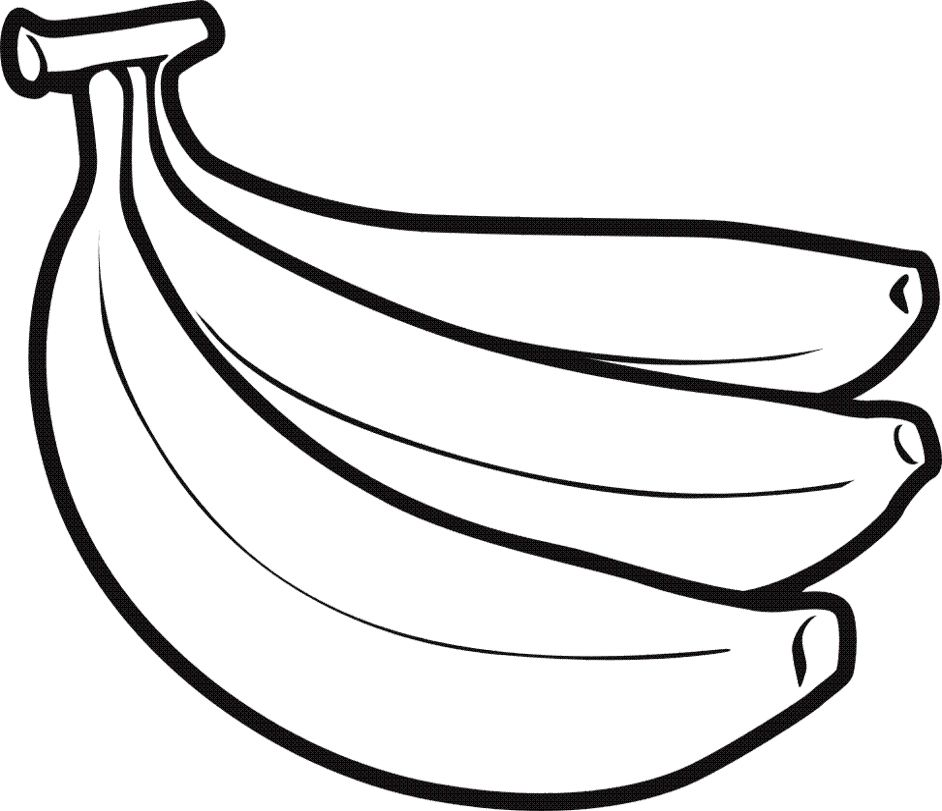 Great and tasty banana coloring pages
