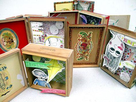 Kim Welling Inspired Shadow Box   small hands big art