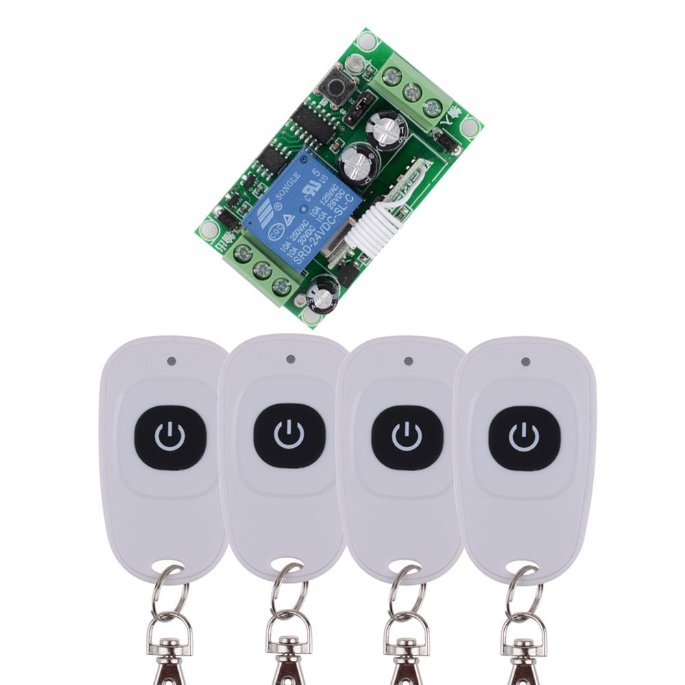 Dc 24 V 1ch 10a Relay Rf Wireless Remote Control Switch One Button On Off Cheap Receiver Controlled Buy Quality Design Directly From China Capacitance Suppliers