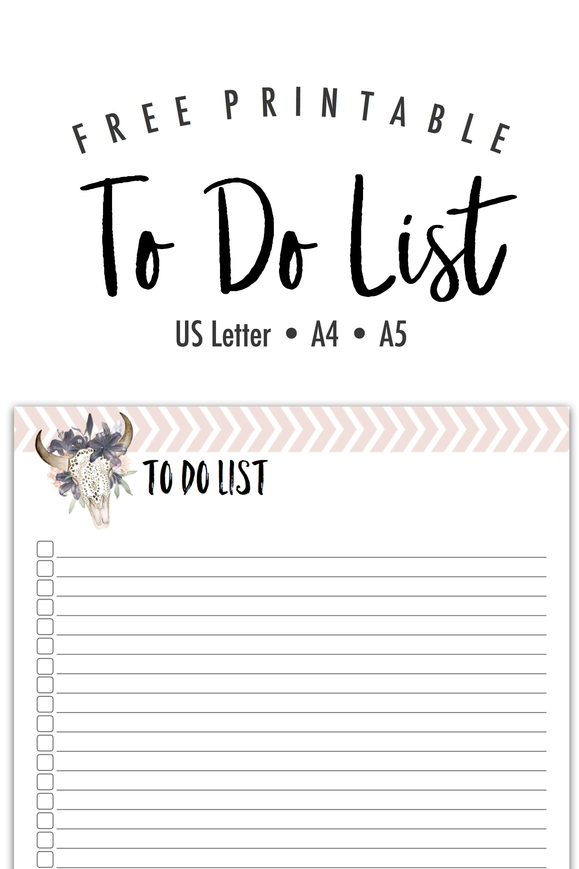 free printable keep your to do list on point with this pretty