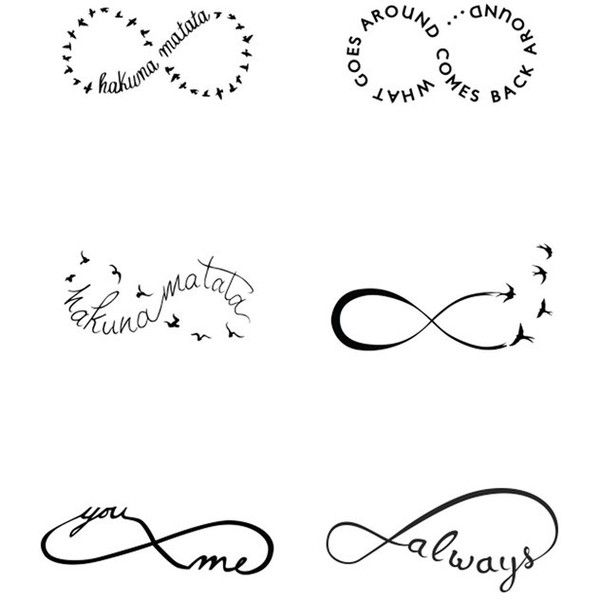 Tattify 'Infinity Moods' Temporary Tattoos ($15) ❤ liked on Polyvore featuring jewelry, no color, braid jewelry, infinity jewelry and tattoo jewelry