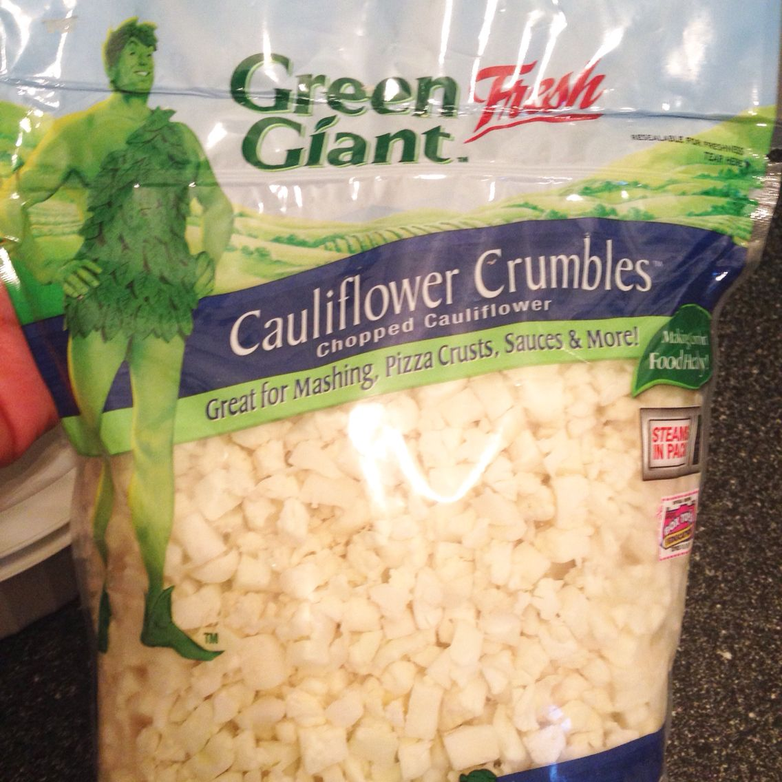 Cauliflower crumbles by Green Giant Fresh. Great