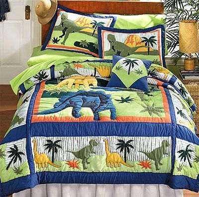 Dinosaurs – Bed Quilt Bedding Set – Full-Double Size | Dinosaurs ... : double size quilt - Adamdwight.com