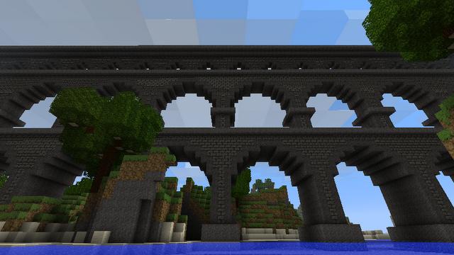 Arch Supported Bridge Minecraft Bridges Minecraft Designs Amazing Minecraft