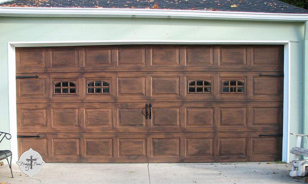 diy faux wood garage doors. DIY: Faux Stained Wood Garage Door Tutorial - If You\u0027re Tired Of Your Boring Standard Door, I\u0027ll Show You How To Take It The Next Level And Make Diy Doors I