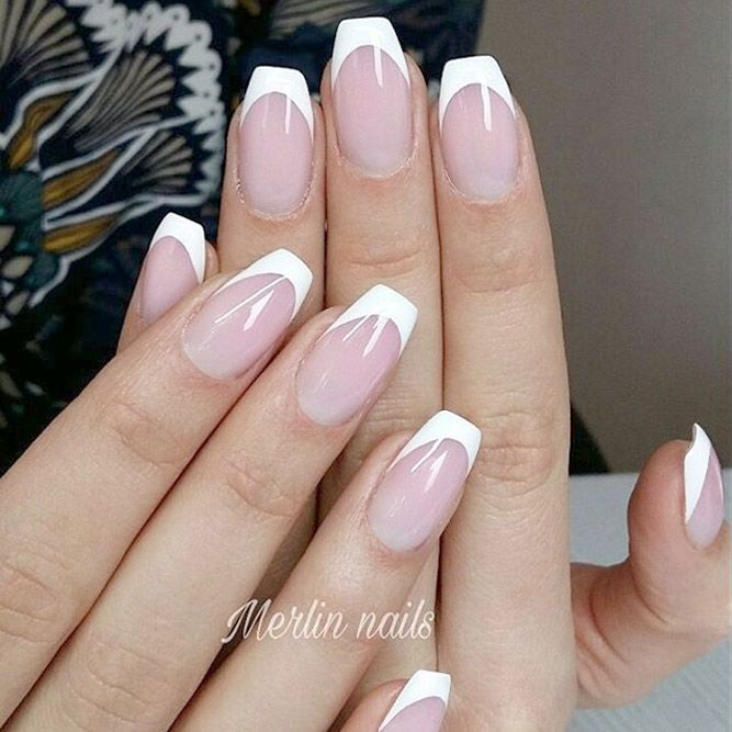 French Manicure Designs You Must Try See More Glaminati