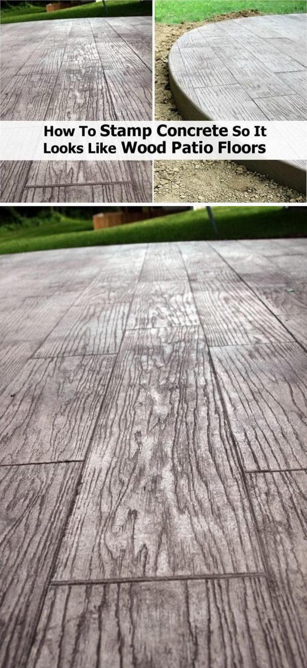25 Cool Patio Floor Ideas For Outdoor 2017 Patio Flooring Diy Concrete Patio Concrete Patio Designs